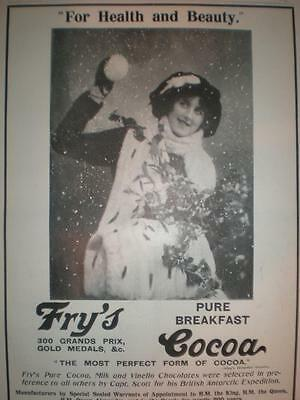 Fry's Cocoa snowball UK advert 1912