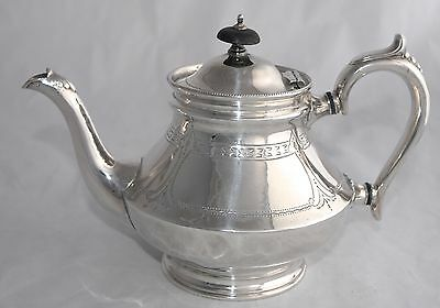 Handsome Antique Silver Plate Tea Pot - Chased - T Bros S England