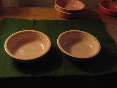 Two  Fiesta Ware 7 Inch Cereal Bowls, Pink