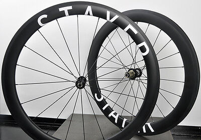 STAYER Carbon Road wheel set - NovaTec on Aero 50/60 Rims, Shimano/ Campagnolo
