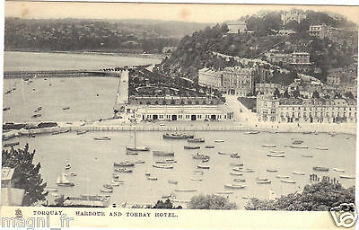 Royaume Uni - cpa - TORQUAY - Harbour and Torbay hotel