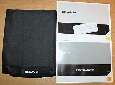 Renault Master Owners Manual Handbook Incl. Service Section  2010-2016 Pack