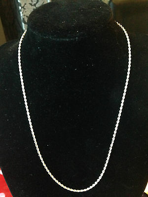 925 Sterling Silver 2mm Twisted Rope chain necklace for pendant 16- 24 Inches T2