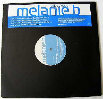 "MELANIE B of The Spice Girls  UK 2000 PROMO DOUBLE PACK 12"" Single Feels So Good"