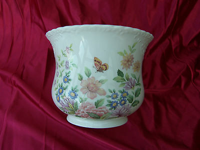 """Coalport Plant Container """"mayfield"""" In Mint Condition Decorated With Flowers"""