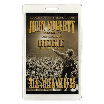 John Fogerty authentic 2005 concert tour Laminated Backstage Pass