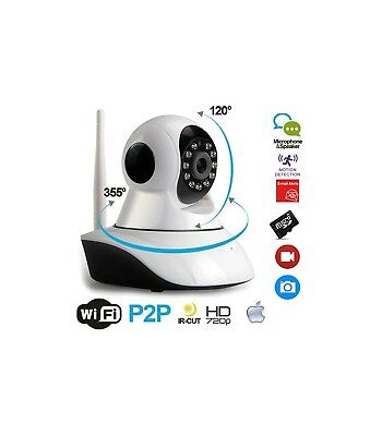 Ts Telecamera Ip Camera Hd 720P Wireless Led Ir Lan Motorizzata Wifi Rete Intern