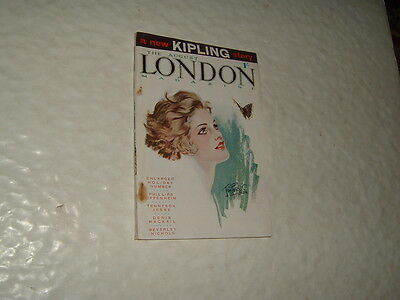 Rudyard Kipling The London Magazine August 1929 A New Kipling Story