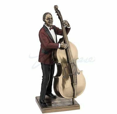 Jazz Band Collection - Double Bass Player Sculpture Musician Statue Figurine