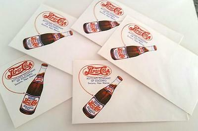 5- 1940's Pepsi:Cola Envelopes, Sorroco Bottling Co. New Mexico ~ Never Used