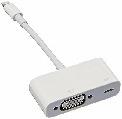 Apple MD825AM/A Lightning to VGA Adapter for iPhones iPads  Retail Packaging
