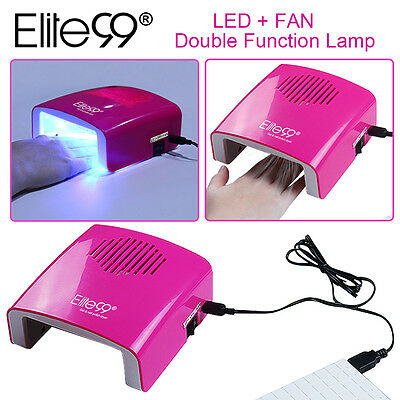 Elite99 Protable 5.5W Nail Lamp Dryer Fan UV LED Curing Gel Polish With Timers