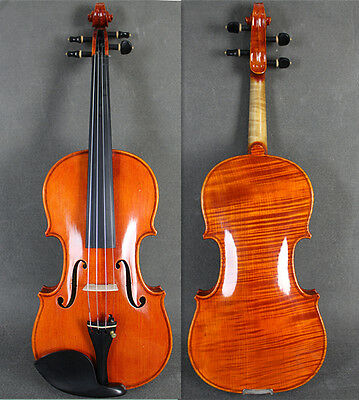 Professional Beautiful One-Piece 4/4 Hand Made&Varnished Violin /Free Bow&Case