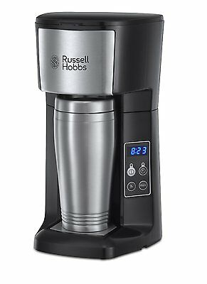 Russell Hobbs 22630 Brew and Go Coffee Tea Machine and Mug Stainless Steel (A)