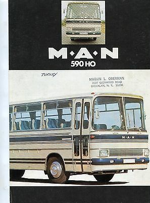 Sales brochure,  M.A.N 590 HO coach chassis , Turkish language edition, , 1975