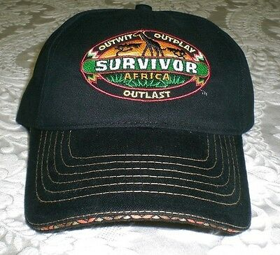 SURVIVOR Africa Baseball Cap Hat - black with embroidered buff logo patch - NEW