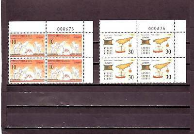 Cyprus - Sg847-848 Mnh 1994 Europa - Discoveries - Blocks Of 4