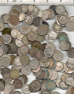 100 Assorted Condition And Year George Vi & Q E Ii Sixpences