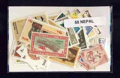 Nepal 50 timbres différents