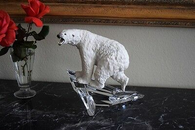 ~ POLAR  BEAR on Top of Iceberg  ~ Vintage Large Porcelain Figurine ~ Germany