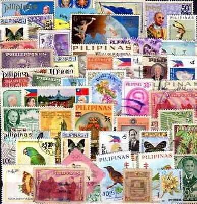 Philippines 200 timbres différents