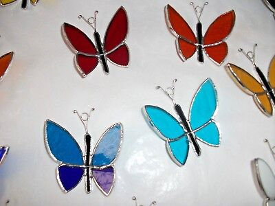 4 x Stained Glass Handmade Butterfly's Sun-catcher, window decoration