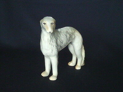Vintage Small Wolfhound / Greyhound Porcelain Dog Figurine