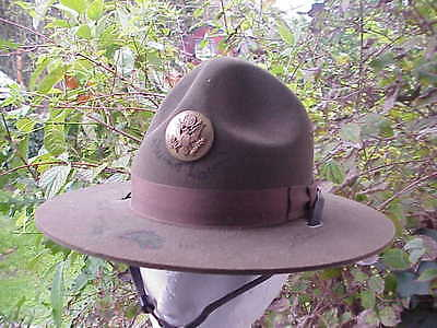 US Army Drill Instructor WW1 style M-1911 Montana Peak Campaign Hat Used
