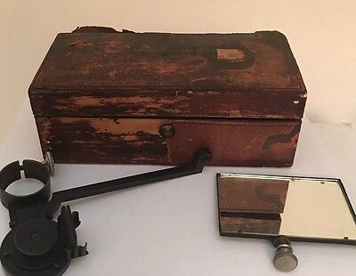 Antique Carl Zeiss Optical Ernst Abbe's Drawing Camera Original Box 1895 Parts