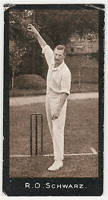 F & J Smith Cricketers (1-50) #39 R. Schwarz - South Africa Very Good Cond 1912