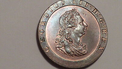 1797 Cartwheel Penny.George 111.UNC.High Lustre. British.Very Rare as such.#1869