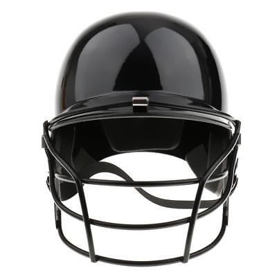 EVA Impact Foam Baseball Softball Batting Helmet w/ Mask Adult Black
