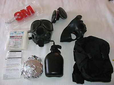 US Military Surplus 3M FR-40-20 Gas Mask Kit.Carry Bag,Canister,Prepper.Xtras