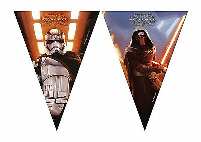 Star Wars The Force Awakens Flag Pennant Banner Bunting Party Decoration R