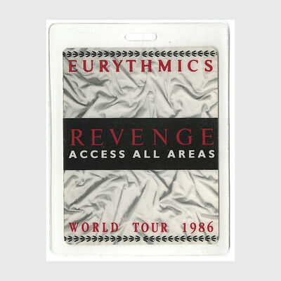 Eurythmics authentic 1986 concert tour Laminated Backstage Pass