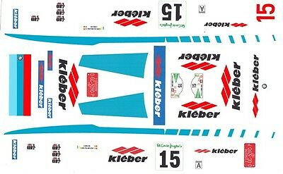 #15 BMW 635 CSi Kieber 1987 1/43rd Scale Slot Car Decals