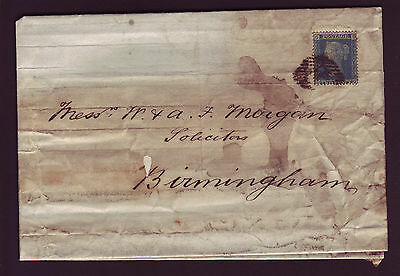 GB. QV. SG 45, 2d BLUE, PLATE 8, ON COVER, TO BIRMINGHAM.