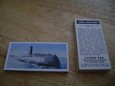 HMS 1902 - 1962 Full Set By Lyons Tea