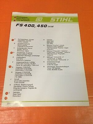 GENUINE STIHL FS 55 T Parts List - Illustrated Parts Manual
