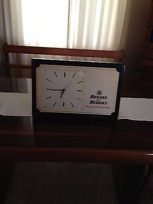 Benson and Hedges clock