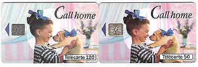 Call home 2 French Phonecards.