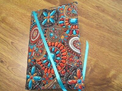 South West Design Print Handmade Quilted Regular Size Paperback Book Cover