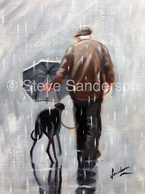 Limited edition signed 'Giclee' print direct from Steve Sanderson Greyhound Art