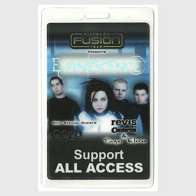 Evanescence authentic 2003 concert tour Laminated Backstage Pass