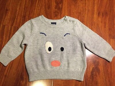 baby Gap Boys Gray Long Sleeve Sweater Size 6-12 Months NWT