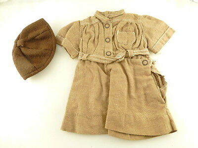 Vintage Terri Lee Doll Brownie Girl Scout Dress & Cap Outfit with Tag
