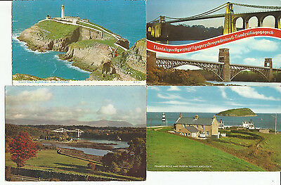 8 Postcards From Anglesey, Wales, Earliest 1956
