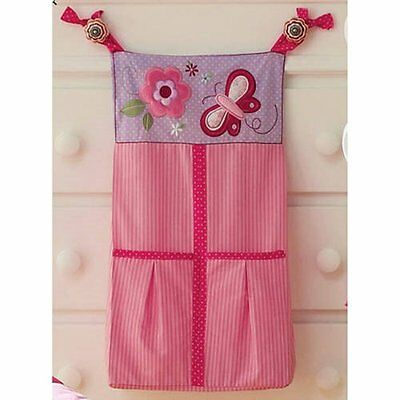 Butterfly Blossoms Girls Baby Diaper Stacker Pink Flowers