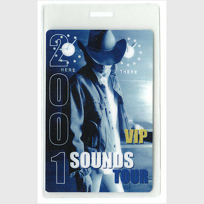 Dwight Yoakam authentic 2001 concert tour Laminated Backstage Pass