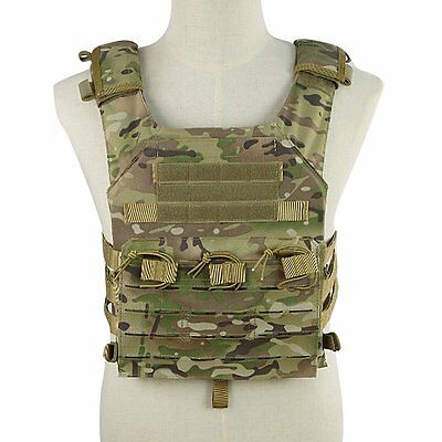 OUTRY Plate Carrier, Innovative MOLLE Tactical Vest - 2 EVA Ballistic Plates